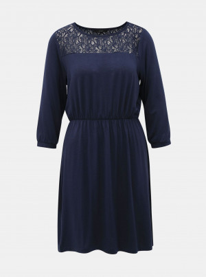 Tmavě modré šaty VERO MODA Jasmin