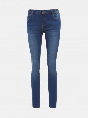 Modré slim fit džíny Noisy May Jen