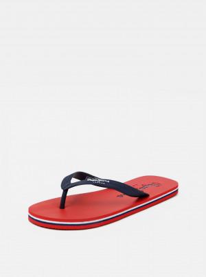 Červeno-modré pánské žabky Pepe Jeans -