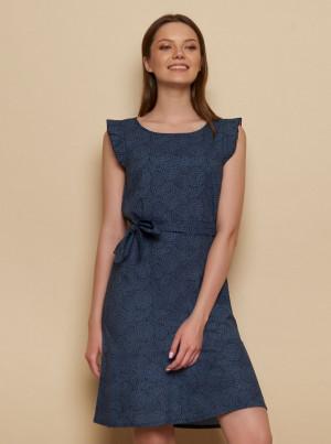 Tranquillo tmavě modré šaty Madje