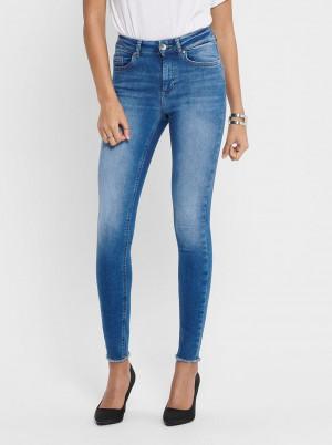 Modré zkrácené skinny fit džíny ONLY Blush