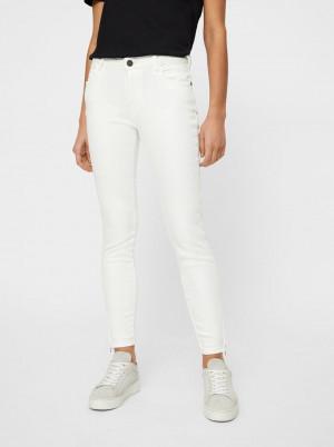 Bílé skinny fit džíny Noisy May