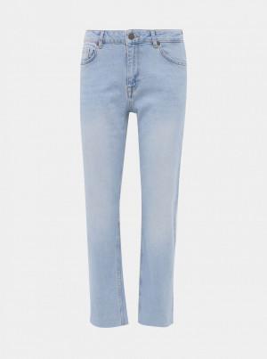 Světle modré straight fit džíny Noisy May Jenna