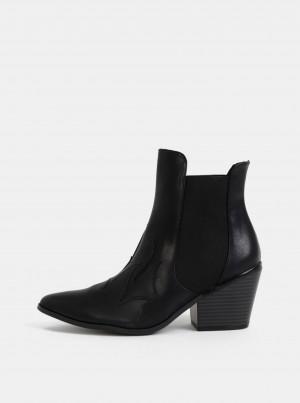 Černé kotníkové boty VERO MODA Jess -