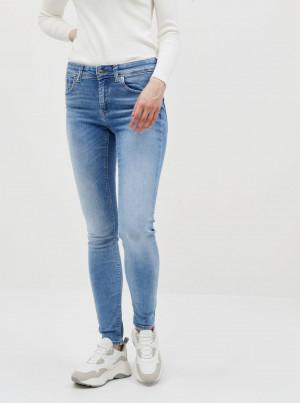 Modré slim fit džíny VERO MODA Lux