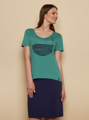 Tranquillo zelené tričko Fajola s potiskem