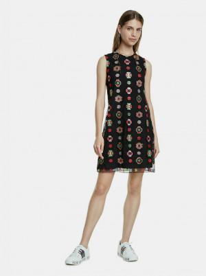 Černé vzorované šaty Desigual Tresor
