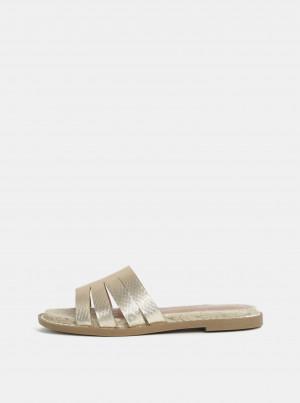 Pantofle ve zlaté barvě Dorothy Perkins -