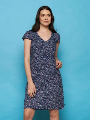 Tranquillo modré vzorované šaty