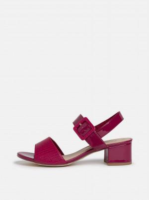 Tamaris fuchsiové sandály na podpatku -