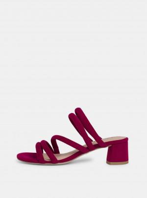Tamaris fuchsiové semišové sandály -