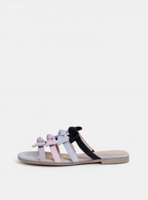Tamaris šedé semišové pantofle -