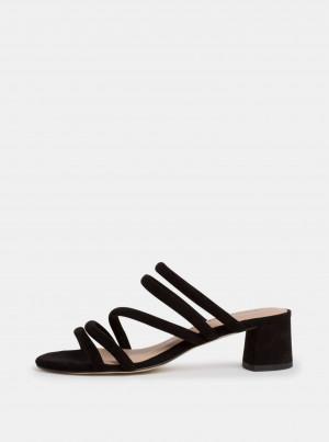 Tamaris černé semišové sandály -