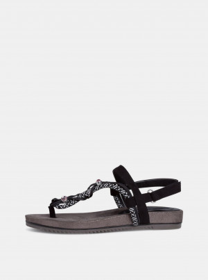 Tamaris černé sandály -