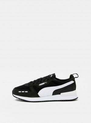 Bílo-černé pánské tenisky se semišovými detaily Puma -