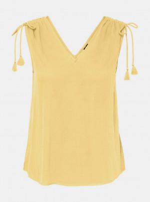 Žlutý volný top VERO MODA Penelope