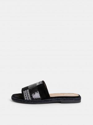 Černé dámské semišové pantofle Geox Kolleen -