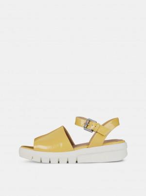 Žluté dámské sandály na platformě Geox Wimbley -