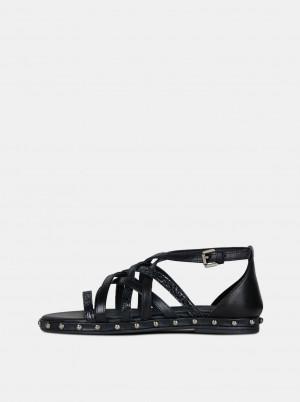 Černé dámské kožené sandály Geox Kolleen -