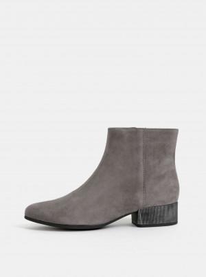 Šedé dámské semišové kotníkové boty Geox Peython -