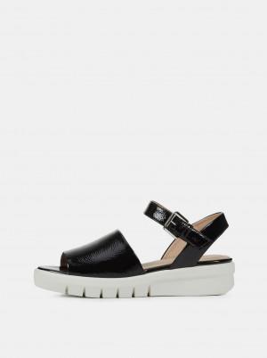 Černé dámské sandály na platformě Geox Wimbley -