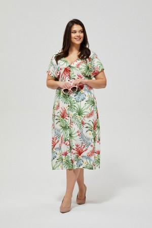 Moodo barevné letní šaty s tropickými motivy -
