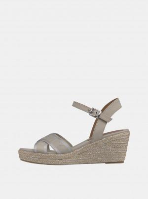 Krémové dámské sandálky Tommy Hilfiger -