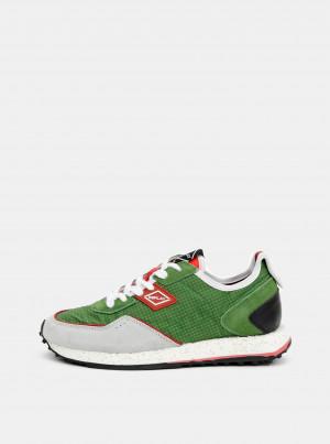 Zelené pánské tenisky se semišovými detaily Replay -