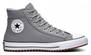 Converse šedé kožené tenisky Chuck Taylor All Star Boot PC -