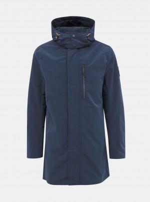 Tmavě modrá pánská voděodpudivá  bunda Tom Tailor