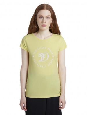 Žluté dámské tričko Tom Tailor Denim