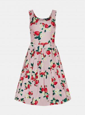 Růžové květované šaty Dolly & Dotty -