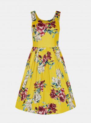 Žluté květované šaty Dolly & Dotty