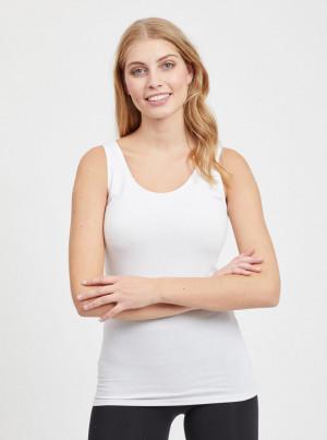 Bílé basic tílko VILA Officiel - L-XL