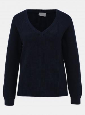 Tmavě modrý svetr VILA Myntani