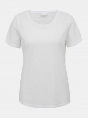 Bílé basic tričko VILA Sus