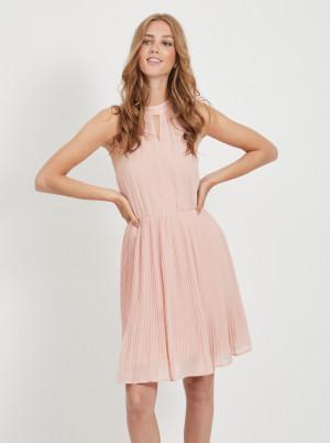 Růžové plisované šaty VILA