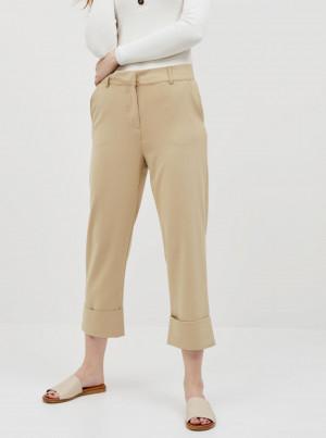 Béžové zkrácené kalhoty Jacqueline de Yong Wagner