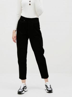 Černé zkrácené kalhoty Jacqueline de Yong Pacey
