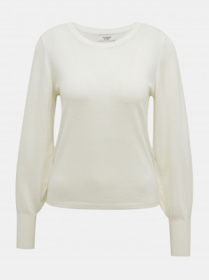 Bílý svetr Jacqueline de Yong