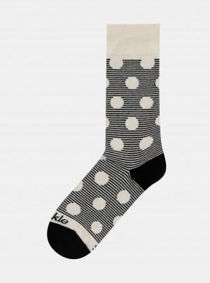 Šedé vzorované ponožky Fusakle Chameleon albín - 39-42