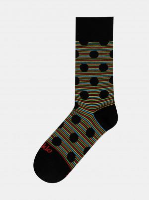 Černé vzorované ponožky Fusakle Chameleon - 35-38