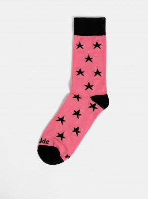 Růžové dámské vzorované ponožky Fusakle Hvězda - 35-38