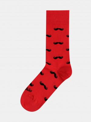 Červené vzorované ponožky Fusakle Fuzac krvavy - 35-38
