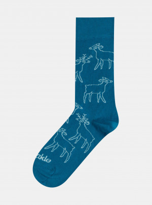 Zelené vzorované ponožky Fusakle Srnky - 35-38