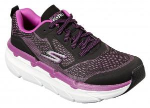 Skechers černo-růžové tenisky na platformě Max Cushioning Premier -