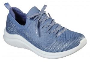 Skechers modré tenisky Ultra Flex 2.0 Laser Focus s lurexovou nití -