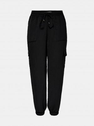 Černé cargo kalhoty ONLY Sonja -