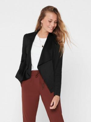 Černá bunda v semišové úpravě ONLY Fleur