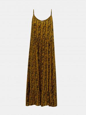 Oranžové vzorované šaty Noisy May Baegle